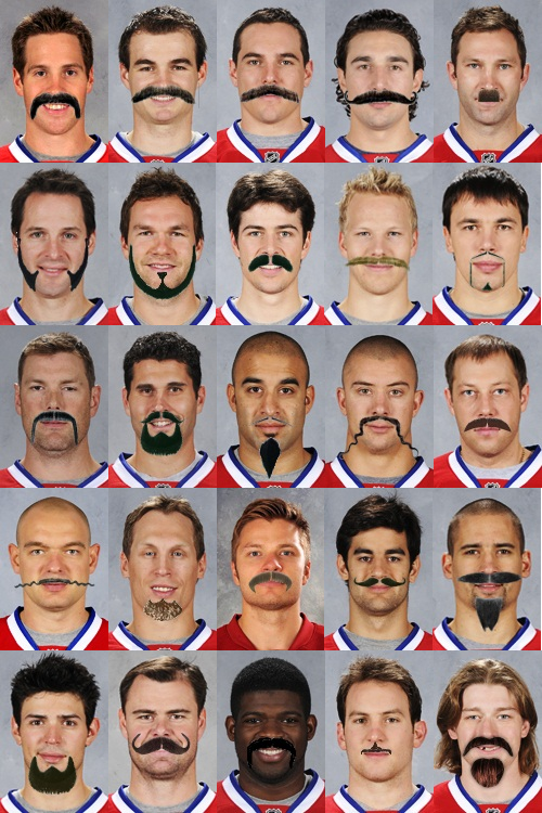 Habsmustache Movember: What Will Your Habs Look Like?