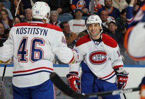 Gomez celebrates first goal of season 2011 12 300x205 Habs 2011 12: A Season to Forget, Part Two