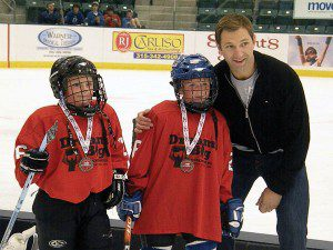 Cole with kids at hockey 1 300x225 Headlines: Cole, Hudon, Brule, Bergevin, Trades