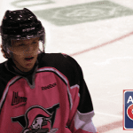 Habs' prospect Olivier Archambault and the Voltigeurs wore pink to honour Breast Cancer month. $7450 was amassed for the cause during the game.