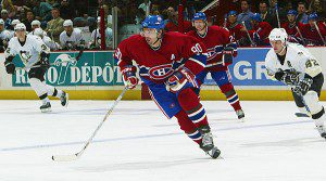 Was it the curse of Joe Juneau that saw Desharnais tossed from the face-off circle in game four? (PHOTO: Canadiens.com)