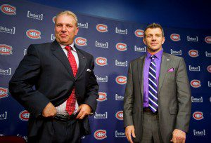 Bergevin and Therrien have reason to look satisfied with their first year together; but there remains work to be done (PHOTO: PIERRE-PAUL POULIN/QMI Agency)